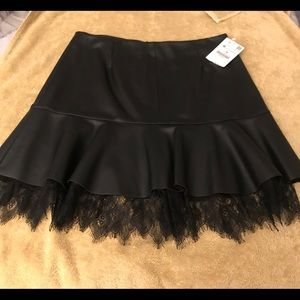 ZARA Black Pleather Skirt